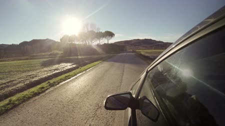 yansıma : Driving Along a Countryside Road Stok Video