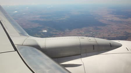 jet out : Looking Out From Airplane Window Stock Footage