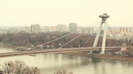 tower bridge : New Futuristic Bridge in Bratislava
