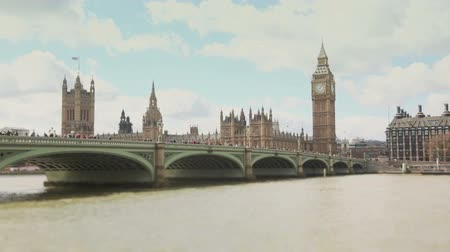 london england : Westminster bridge and Big Ben time lapse Stock Footage