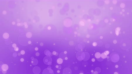 yarı saydam : Purple pink bokeh background with floating light particles. Stok Video