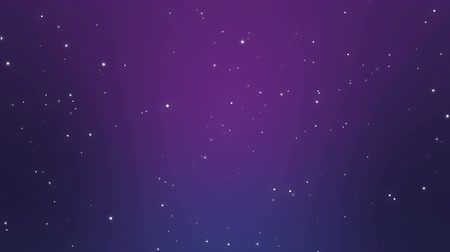 elmas : Magical purple starry night sky background with sparkling white particle lights.