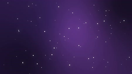 télen : Animated dark purple night sky background with sparkling stars.