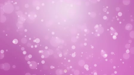 расфокусированный : Romantic magenta pink glowing bokeh background with floating light particles.