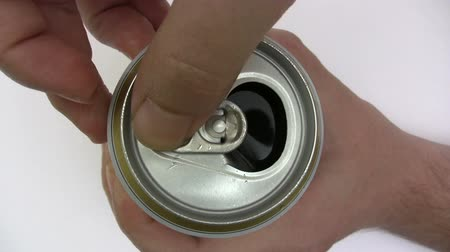drink cans : Opening a Beer Can