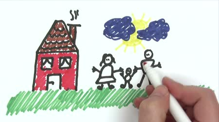 mani disegno : Happy Family - Time Lapse