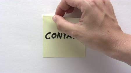 post it : Contacteer Note