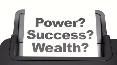 wealth : Printing Power Success Wealth