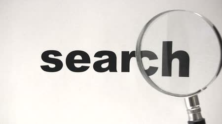 magnifying glass : Search