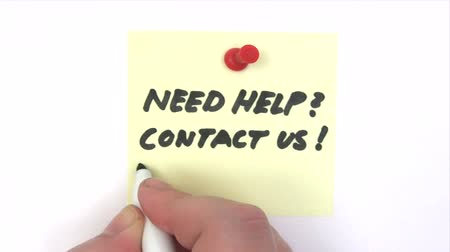 segít : Need Help - Contact Us Stock mozgókép