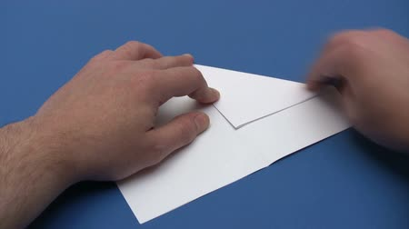 бумага : Folding a Paper Plane - Time Lapse