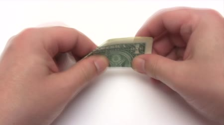 paper airplane : Folding a Dollar Plane - Time Lapse