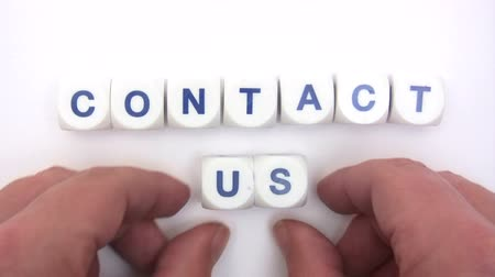 bloklar : Contact Us Dice Stok Video
