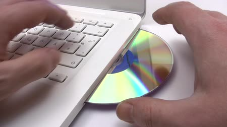 compact disc : Ejecting a CD Stock Footage