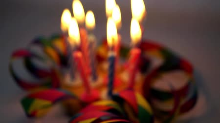 doğum günü : Birthday candles Stok Video