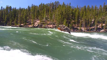 nemzeti : Rapids of the Yellowstone River fueled by snowmelt of the previous winter