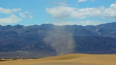szatan : Large dust devil on the Mesquite Flat Sand Dunes of Death Valley National Park California