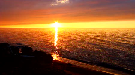 upper peninsula : American Great Lakes Sunset