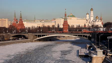kreml : Moscow Kremlin at winter sunset