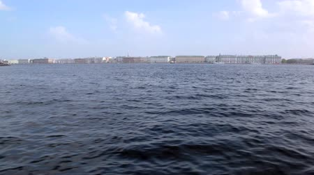 neva river : View on St. Petersburg from river