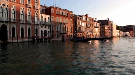 veneza : Venice, sea, gondola, sunset in Venice