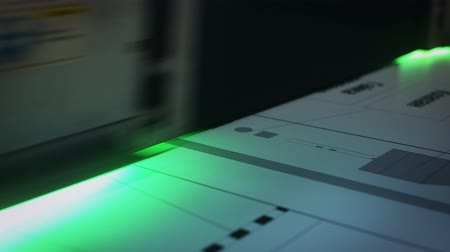technics : Lazer printing equipment at work video Stock Footage