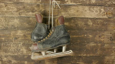 cipőfűző : old hockey skates