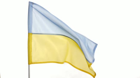 blue and yellow : flag ukraine Stock Footage