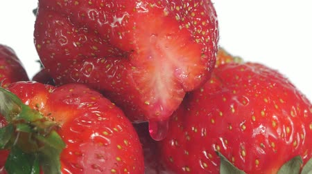 strawberry oil : strawberry Stock Footage