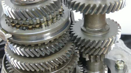 mecânica : mechanical gears Stock Footage