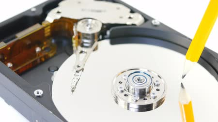 symbolic record of data on hard disc Wideo