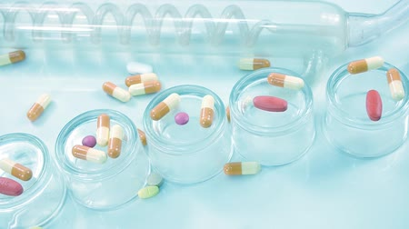 bakterie : different medicines on the lab table