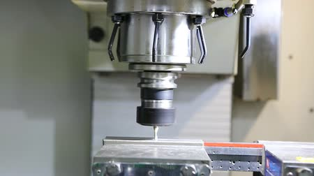CNC milling machine working