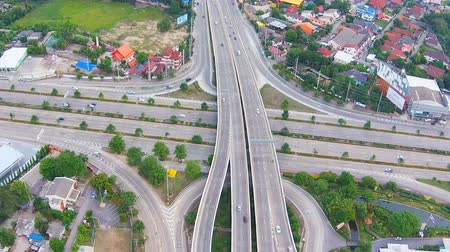 aerial view of highways road