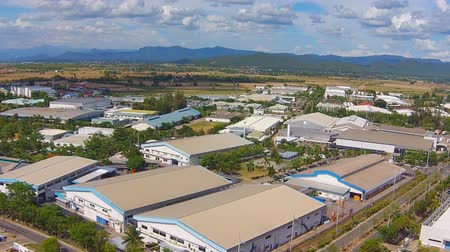 manzaraları : aerial view of Industrial Estate northern thailand