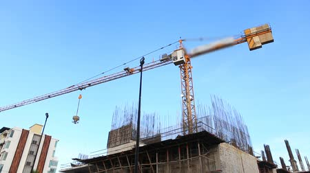 site : Crane working in construction site