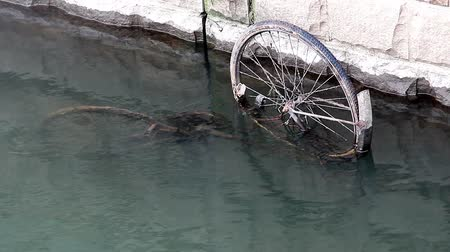 bicycle : The bike in a river