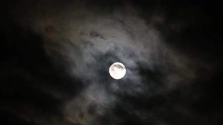 質地 : The moon on the black night sky and floating clouds