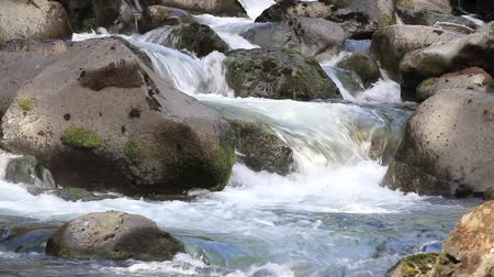 descobrir : tranquil scene with fresh water rushing over and around boulders
