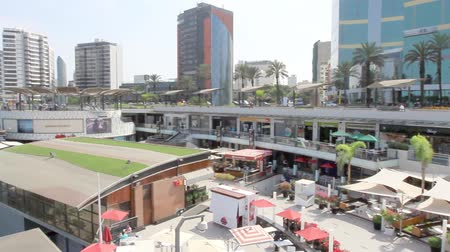 descobrir : Miraflores, Lima - May 10 : Beautiful view of Larcomar, a multilevel entertainment, food and shopping mega complex, Lima. May 10 2016 Miraflores, Lima Peru.