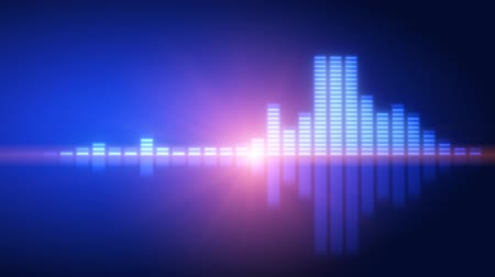 loud music : Blue equalizer with lens flare