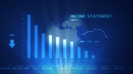 wykresy : Income statement futuristic projection concept