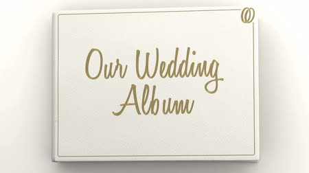 livros : Wedding album with blank pages