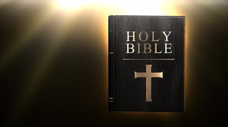 biblia : Holy bible with magic glow