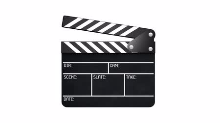 schiefer : Clapperboard mit alpha - 2 Teile Videos