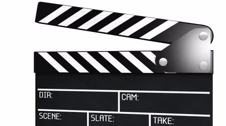 arduvaz : Clapperboard with alpha - 2 parts  Stok Video