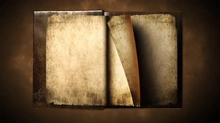 livros : Very old gold magic book with flipping pages