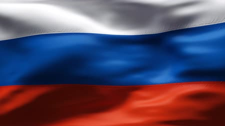 russisch : Russische Vlag in wind in slow motion Stockvideo