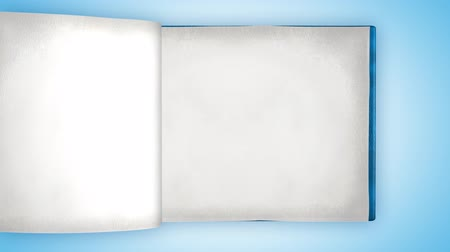 página : Fast turning white blank pages in empty book