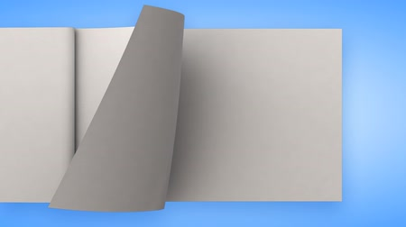 página : Flipping white blank pages
